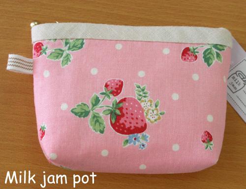 いちごのミニポーチ(ピンク)