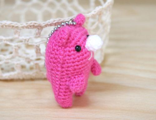 くまかろん編みぐるみ
